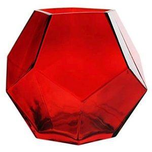 Glass Geometric Prism Honeycomb Vase
